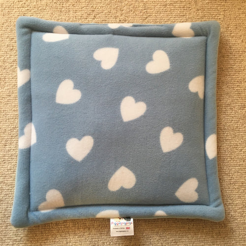 Lap Pad - Hearts with Blue Fleece