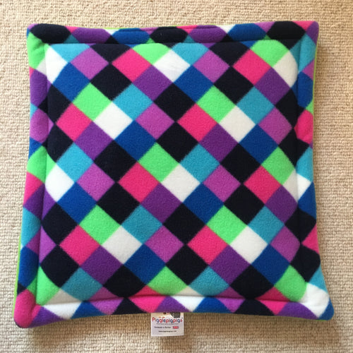 Lap Pad - Purple Elmer with Lime Fleece
