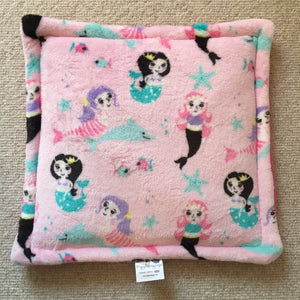 Lap Pad - Pink Mermaid with Pink Fleece