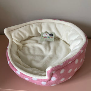 Bunnie Snug  - Pink Spots with Cream Fleece