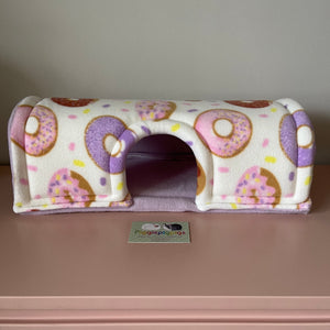 Wheek-a-Boo Donuts with Lilac Fleece