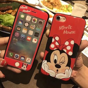 Phone Case - 2018 New Arrival 360 Degree Cartoon Cases For iPhone(+Tempered Glass Screen Protector)
