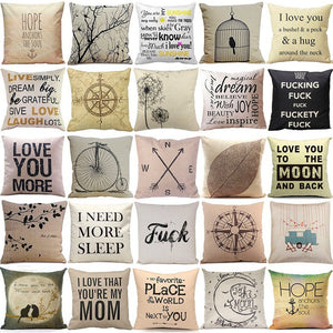 Cotton Pillow covers for bedroom living room