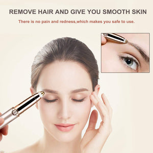 Painless Eyebrow Trimmer Eyebrow Hair Remover, Electric Eyebrow Trimmer Epilator for Women, Portable Painless Eyebrow Razor