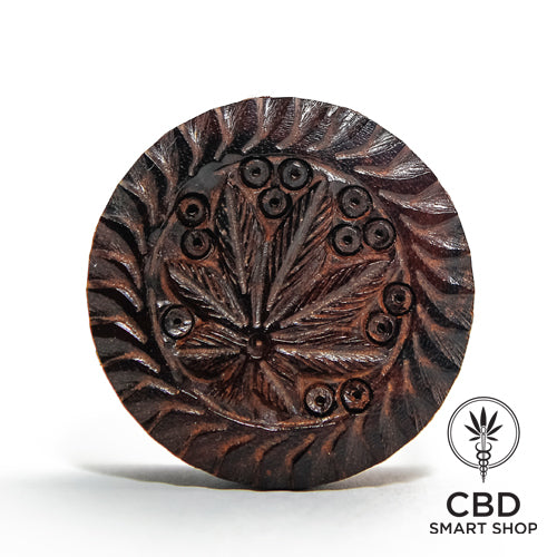 Mlinček Wooden Hemp Leaf Mini - CBD Smart Shop