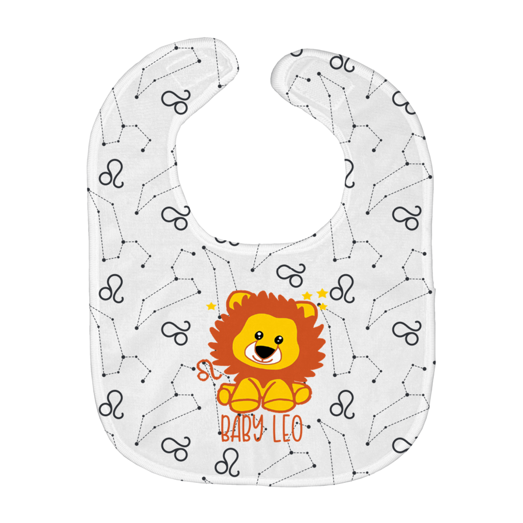 Baby Leo Easy Bib - Birthday Predictions Solar Return Report | Astrological birth chart analysis, cosmic clothing & home goods!