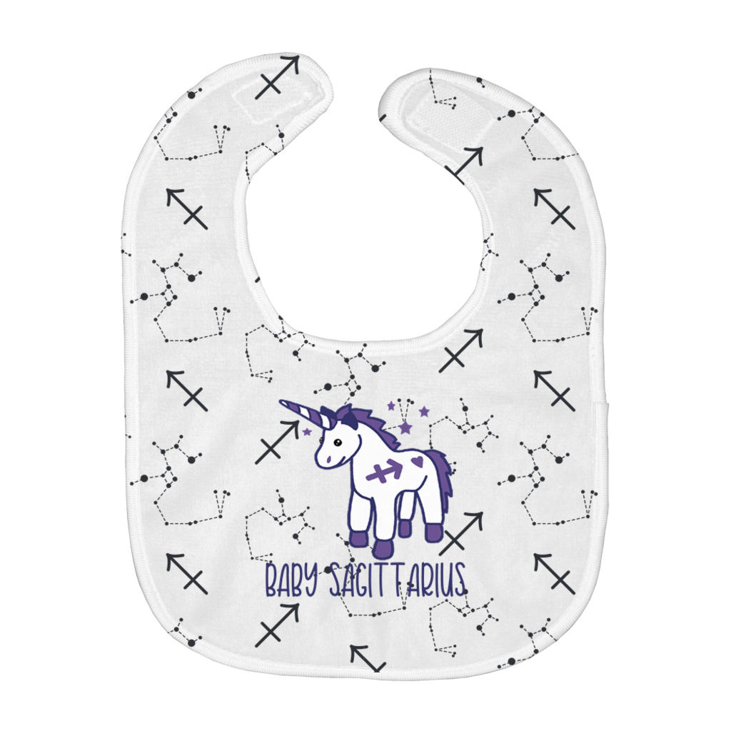 Baby Sagittarius Easy Bib - Birthday Predictions Solar Return Report | Astrological birth chart analysis, cosmic clothing & home goods!