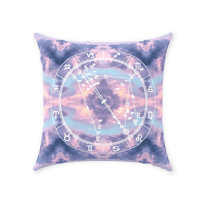 Conscious Comfort Throw Pillows in Cloud Nine - Birthday Predictions Solar Return Report | Astrological birth chart analysis, cosmic clothing & home goods!