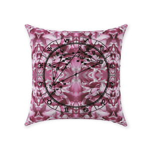 Conscious Comfort Throw Pillows in Flower Power - Birthday Predictions Solar Return Report | Astrological birth chart analysis, cosmic clothing & home goods!