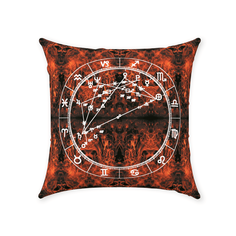 Conscious Comfort Throw Pillows in Mars Mood - Birthday Predictions Solar Return Report | Astrological birth chart analysis, cosmic clothing & home goods!