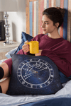 Conscious Comfort Throw Pillows in Milky Way - Birthday Predictions Solar Return Report | Astrological birth chart analysis, cosmic clothing & home goods!
