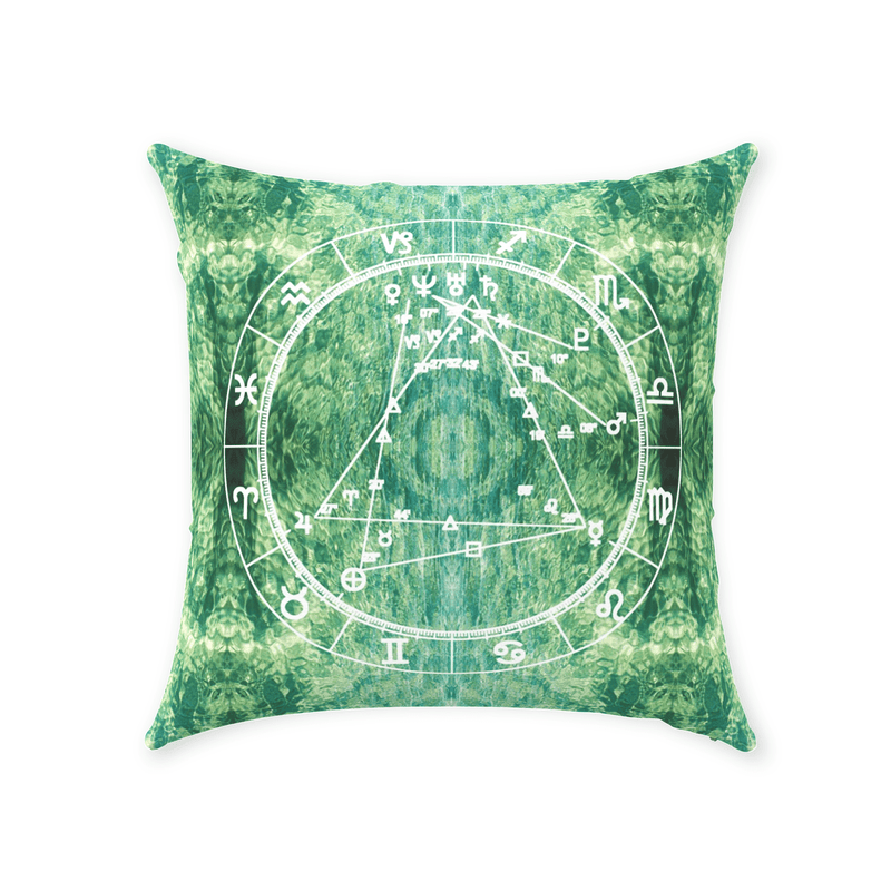 Conscious Comfort Throw Pillows in sLIQUID - Birthday Predictions Solar Return Report | Astrological birth chart analysis, cosmic clothing & home goods!