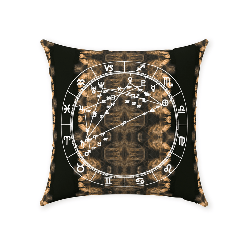 Conscious Comfort Throw Pillows in Smoke & Mirrors - Birthday Predictions Solar Return Report | Astrological birth chart analysis, cosmic clothing & home goods!