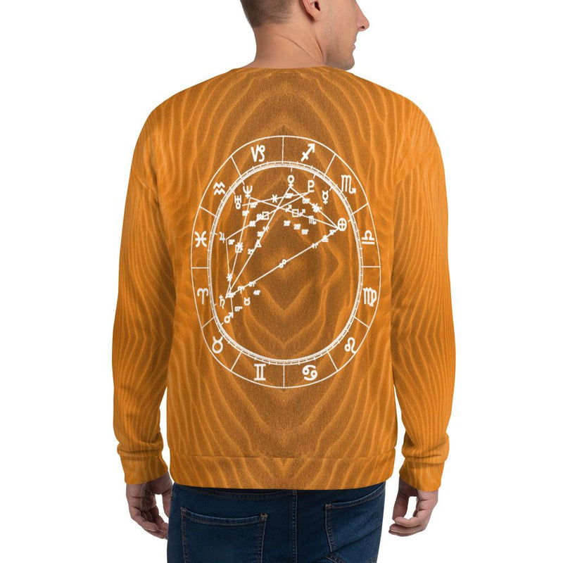 Cosmic Comfort Unisex Crewneck in Open Sesame - Birthday Predictions Solar Return Report | Astrological birth chart analysis, cosmic clothing & home goods!