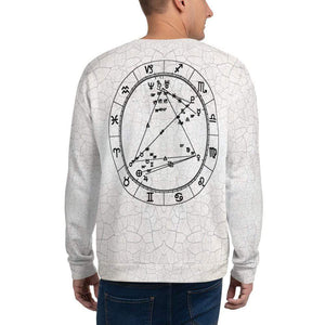 Cosmic Comfort Unisex Crewneck in Playa - Birthday Predictions Solar Return Report | Astrological birth chart analysis, cosmic clothing & home goods!