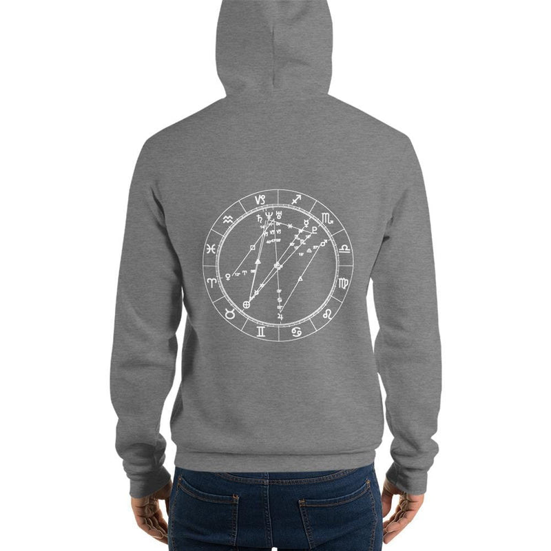 Cosmic Comfort Unisex Fleece Hooded Sweatshirt - Birthday Predictions Solar Return Report | Astrological birth chart analysis, cosmic clothing & home goods!
