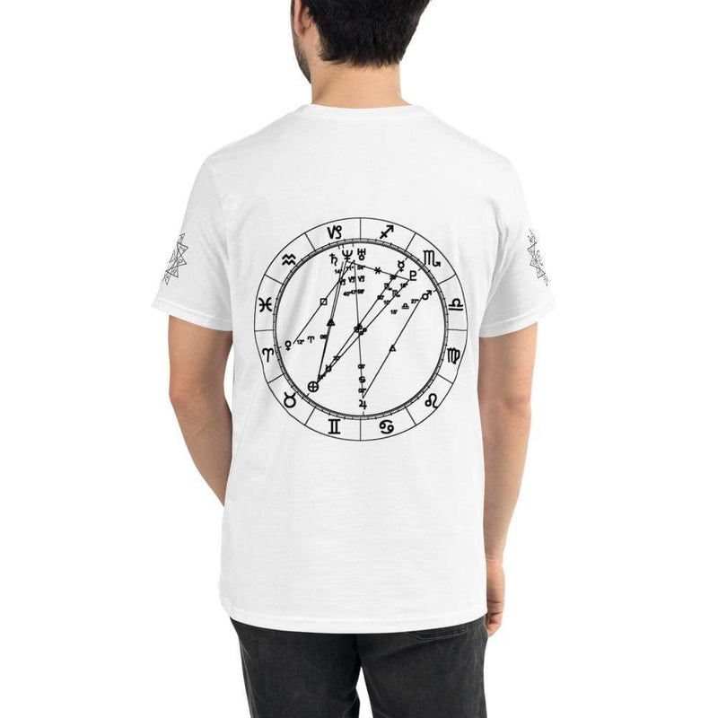 Cosmic Comfort Unisex Organic Low Key T in White - Birthday Predictions Solar Return Report | Astrological birth chart analysis, cosmic clothing & home goods!