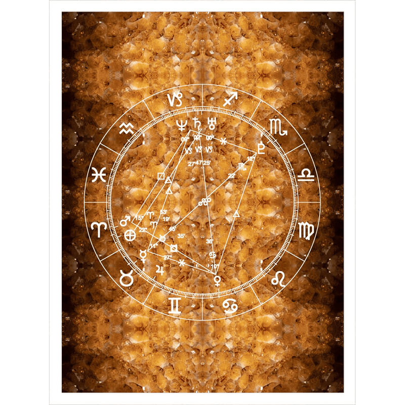Star Chart Sherpa Blanket in Citrine Dreams - Birthday Predictions Solar Return Report | Astrological birth chart analysis, cosmic clothing & home goods!