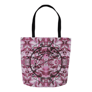 Star Chart Tote Bag in Flower Power - Birthday Predictions Solar Return Report | Astrological birth chart analysis, cosmic clothing & home goods!