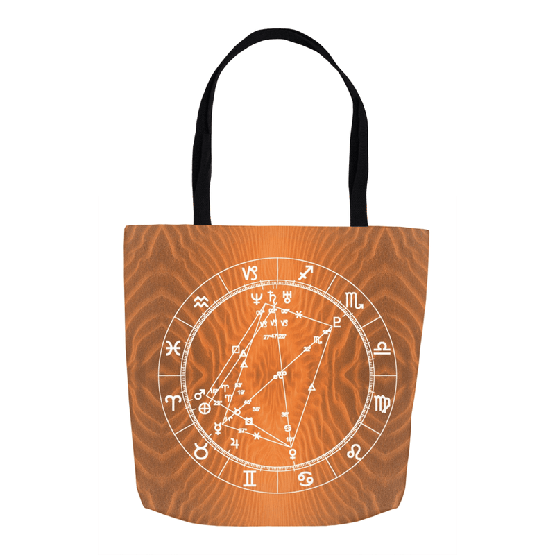 Star Chart Tote Bag in Open Sesame - Birthday Predictions Solar Return Report | Astrological birth chart analysis, cosmic clothing & home goods!