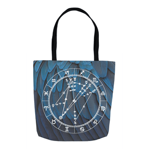 Star Chart Tote Bag in Venus Vibes - Birthday Predictions Solar Return Report | Astrological birth chart analysis, cosmic clothing & home goods!