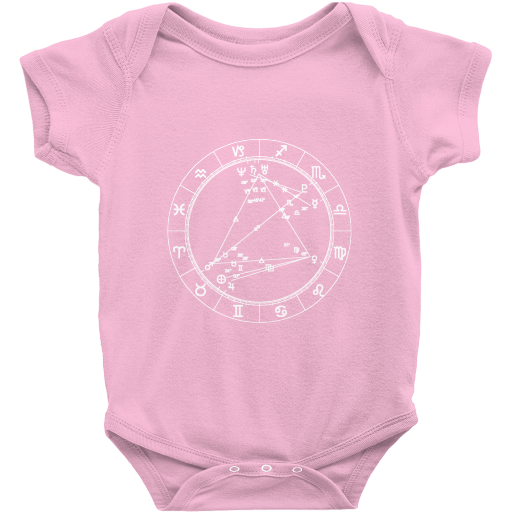 Star Seed Short Sleeve Infant Baby Onesie - Birthday Predictions Solar Return Report | Astrological birth chart analysis, cosmic clothing & home goods!