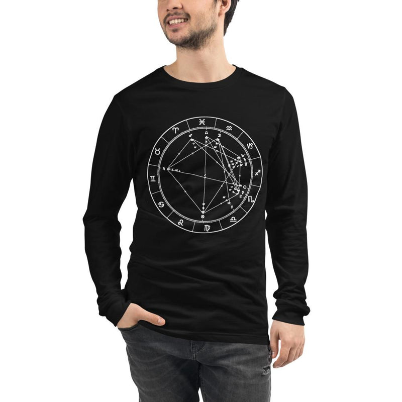 Birth Chart Long Sleeve T + Custom Astrology Book - Birthday Predictions Solar Return Report | Astrological birth chart analysis, cosmic clothing & home goods!