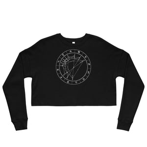 Birth Chart Cropped Fleece Pullover + Custom Astrology Book - Birthday Predictions Solar Return Report | Astrological birth chart analysis, cosmic clothing & home goods!