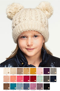 CC Kids Baby Toddler Knitted Chunky Thick Stretchy Children s Pom Pom  Winter Hat Beanie 326bbe28716c