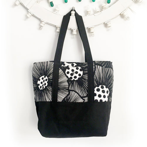 Tote bag Reversibile - PAPAVERI
