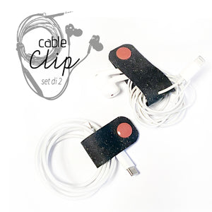 Cable Clips in pelle 100% riciclata