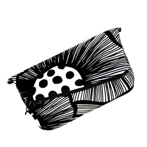 Diagonal Clutch in velluto - PAPAVERI