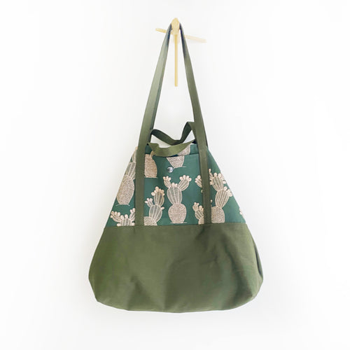 Tote bag Reversibile VERDE - FICHI D'INDIA