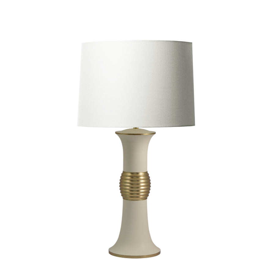Zhumu | Table Lamp in Cream Lacquer with moongold
