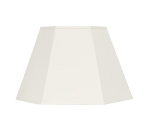 Hexagon Eggshell Linen Shade