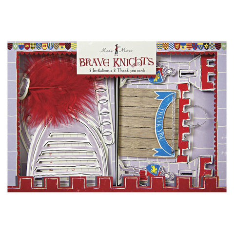 Brave knights invitation & thank you cards