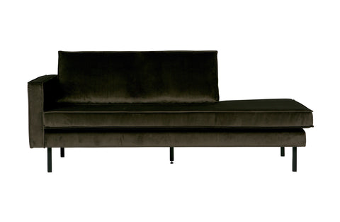 Dark green velvet daybed links