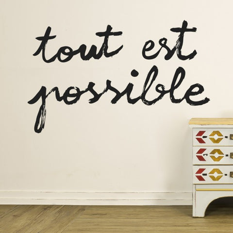 Wall sticker 'Tout est possible'