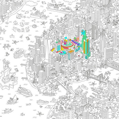 Giant coloring page New York