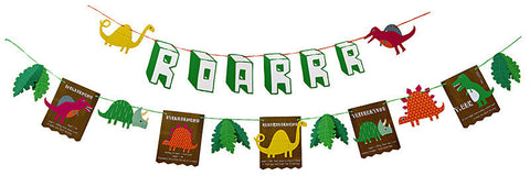 Roarrrrr dinosaur party garland