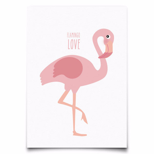 Postcard Flamingo