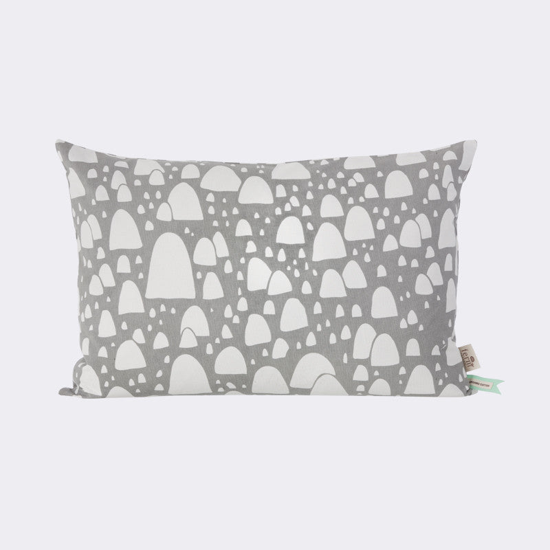 mountain top cushion grey