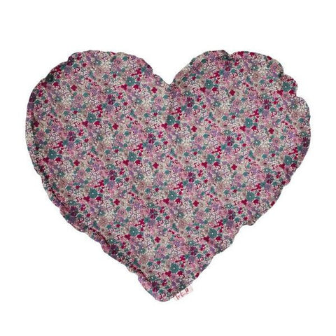 Heart cushion small bobo flowers