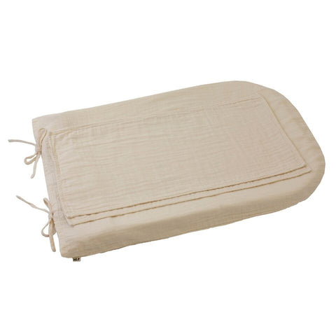 Changing pad cover square Naturel