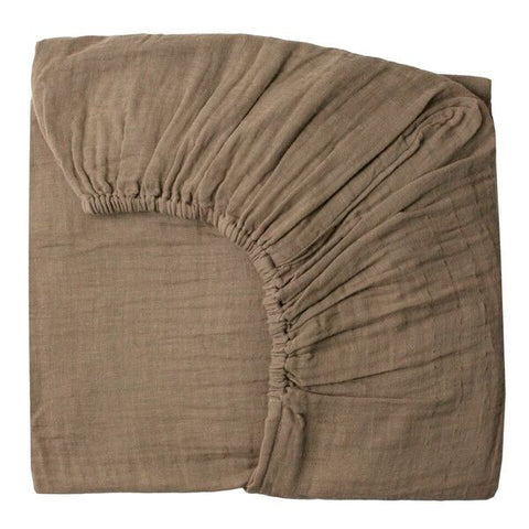 Fitted sheet plain 60x120 beige