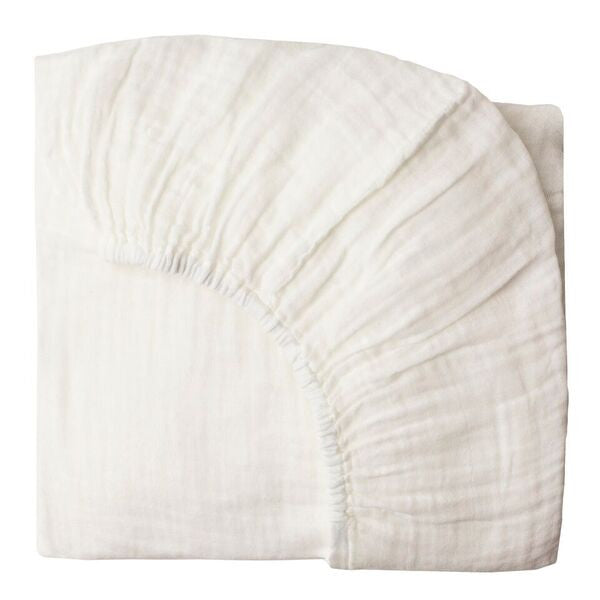 Fitted sheet plain 60x120 white