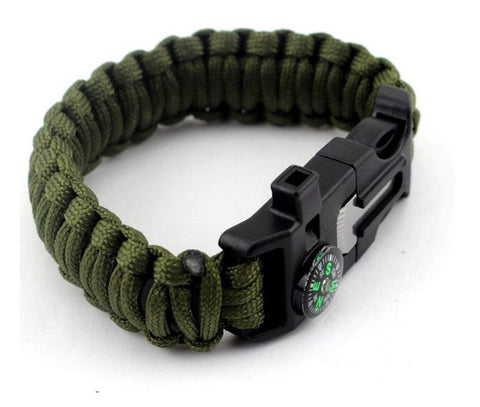 Para Cord Survival Bracelet with 5 Survival Tools