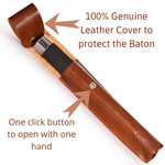 security stick with leather cover