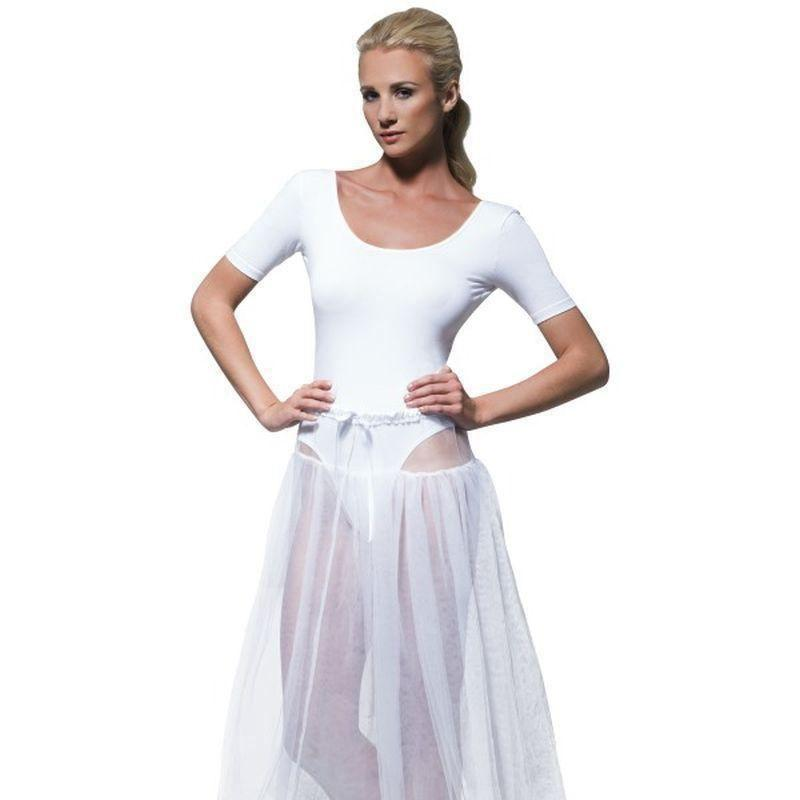1950S Petticoat Adult White - 50S Rocknroll Mad Fancy Dress