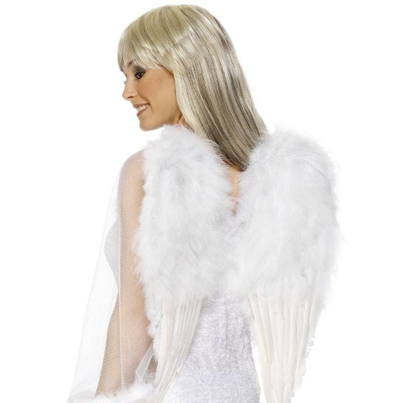Angel Wings Adult White - Faries Wings & Wands Mad Fancy Dress